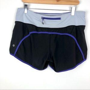 Lululemon Run Speed Shorts Black/Purple